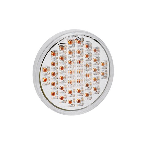 "KC HiLiTES® - Utility LED 4"" Round Amber with Clear Lens Rear Brake Light"