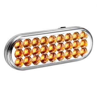 KC HiLiTES® - Utility LED 6 Oval Amber with Clear Lens Turn Signal Light