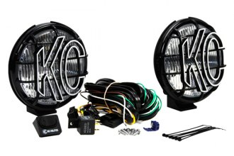 "KC HiLiTES® 152 - Apollo Black Fog Lights with Stone Guards (6"" 100W)"