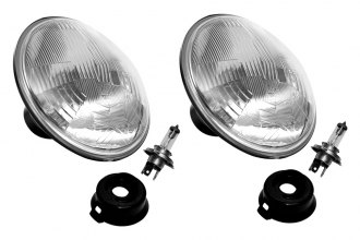 "KC HiLiTES® - 7"" Round Chrome Euro Headlights Off-Road Use Only"