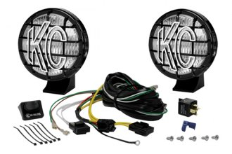 KC HiLiTES® - 5 Black Fog Lights with Stone Guards