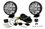 "KC HiLiTES® 452 - Apollo Black Fog Lights with Stone Guards (5"" 55W)"