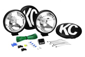 KC HiLiTES® - 5 Black Driving Lights without Stone Guards