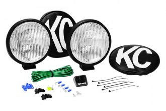 KC HiLiTES® - 5 Black Fog Lights without Stone Guards