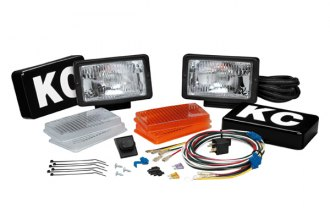 KC HiLiTES® - 57 Series Black Painted Steel Fog / Driving Lights