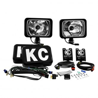"KC HiLiTES® - 6""x9"" HID Series 12V-50W Black Spot Lights"