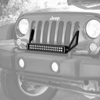 "KC HiLiTES® - 20"" C-Series Dual Row LED Light Bar with Grill Bracket Kit"