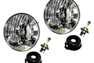 "KC HiLiTES® 42301 - 7"" Chrome Round Euro Headlights"