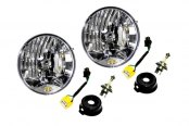 "7"" Chrome Round Euro Headlights Conversion Kit"