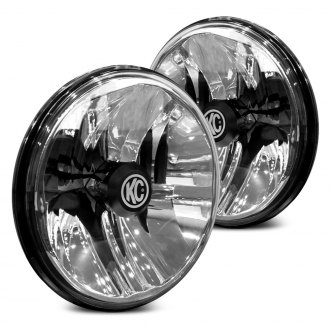 "KC HiLiTES® - 7"" Round Gravity Chrome LED Headlights"