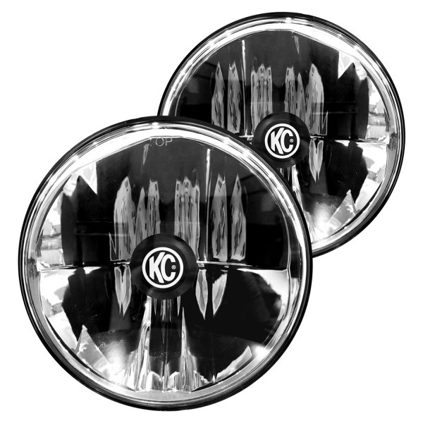 "KC HiLiTES® - Gravity 7"" Round Chrome LED Headlight"
