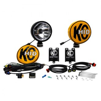 "KC HiLiTES® - 6"" HID Series 12V-50W Black Spot Lights"