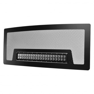 "KC HiLiTES® - Satin Black Mesh Grille with 20"" C-Series LED Light Bar"