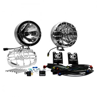 "KC HiLiTES® - 8"" HID Series 12V-50W Polished Stainless Steel Spot Lights"