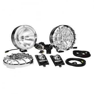 "KC HiLiTES® - 8"" HID Series 12V-50W Polished Stainless Steel Driving Lights"