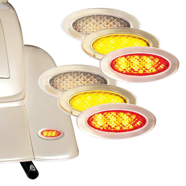 "Keep it Clean® - 3"" Chrome Oval LED Tail Lights"