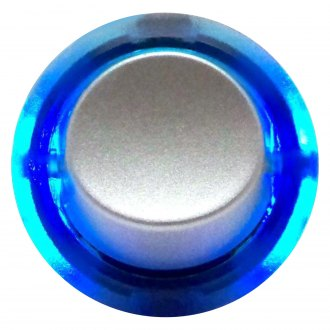 Keep It Clean® - Silver Rocker Switch with Blue Ring Illumination
