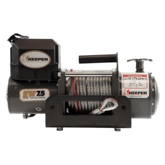 Keeper® - KW Series 7500 lbs Winch with Reciever Hitch Rapid Mount