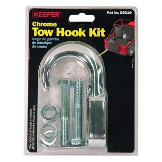 Keeper® - Tow Hook Kit Chrome Forged Steel 10000 Lbs. Max. Vehicle Weight with Hardware