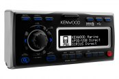 Kenwood® - Single DIN Marine Digital Media Stereo Receiver with iPod Connectivity, USB Input and Auxiliary Input