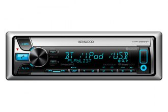 Kenwood® - Single DIN Marine In-Dash CD/MP3/AM/FM Stereo Receiver with SiriusXM and Bluetooth