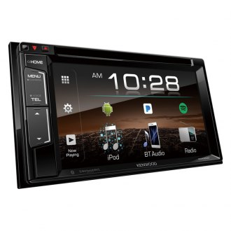 "Kenwood® - Double DIN DVD/CD/AM/FM/MP3/WMA/FLAC/AAC Receiver with 6.2"" Touchscreen Display Built-In Bluetooth and SiriusXM Ready"
