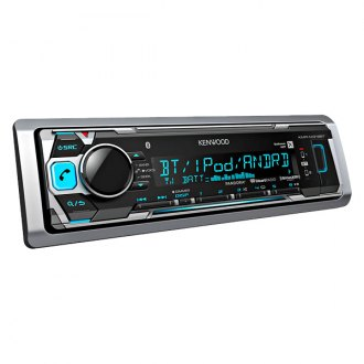 Kenwood® - Silver MP3/WMA/AAC/WAV/FLAC/USB/Bluetooth Receiver