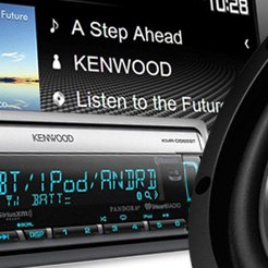 "Kenwood® - Double DIN Receiver with 6.2"" VGA Color LCD Display and Built-In Bluetooth"