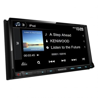 "Kenwood® - Double DIN DVD/CD/AM/FM/MP3/WMA Receiver with 6.95"" VGA Color LCD Display, Built-In Bluetooth, HD Radio and SiriusXM-Ready"