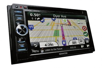 "Kenwood® - Double-DIN Navigation/DVD Receiver with 6.1"" WVGA Display and Bluetooth, HD Radio"