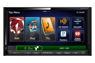 "Kenwood® - Double-DIN Navigation/DVD Receiver with 6.95"" WVGA Display and Bluetooth, HD Radio"
