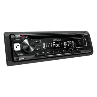 Kenwood® - Single DIN CD/AM/FM/MP3/WMA/WAV/FLAC Receiver with ID-3 Tag Display and Built-In Bluetooth