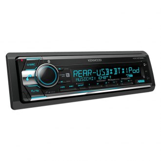 Kenwood® - Single DIN CD/AM/FM/MP3/WMA/FLAC/AAC/WAV Receiver with Built-In Bluetooth, SiriusXM Ready and Pandora and iHeartRadio Ready