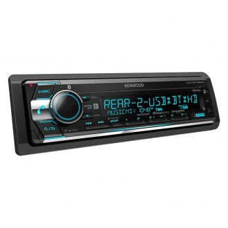 Kenwood® - Single DIN CD/AM/FM/MP3/WMA/FLAC/AAC/WAV Receiver with Built-In Bluetooth, HD Radio and Pandora and iHeartRadio Ready