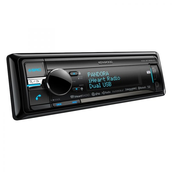 Kenwood® - Single DIN In-Dash CD/MP3 Receiver with HD Radio and SiriusXM Ready