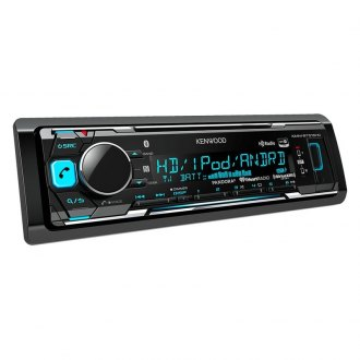 Kenwood® - Single DIN AM/FM/MP3/WMA/FLAC/AAC Digital Media Receiver with Built-In Bluetooth and HD Radio