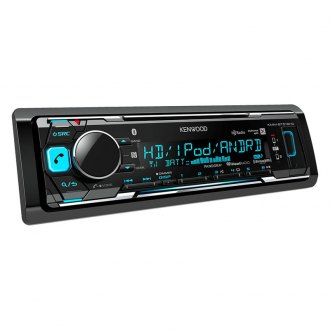 Kenwood® - Single DIN AM/FM/MP3/WMA/FLAC/AAC/WAV Digital Media Receiver with Built-In Bluetooth, HD Radio, Pandora and iHeartRadio Ready