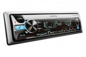 Kenwood® - Single DIN In-Dash CD/MP3/AM/FM Marine Stereo Receiver with Bluetooth, iPod Control, Internet Radio, and Sirius XM Ready