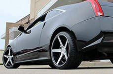 KMC® - DISTRICT Satin Black with Machined Face on Cadillac CTS