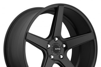 "KMC® - DISTRICT Satin Black (20"" x 8.5"", +35 Offset, 5x120.65 Bolt Pattern, 74.1mm Hub)"