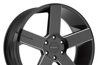 "KMC® - KM690 Satin Black with Milled Accents (22"" x 9"", +30 Offset, 6x139.7 Bolt Pattern, 106.25mm Hub)"