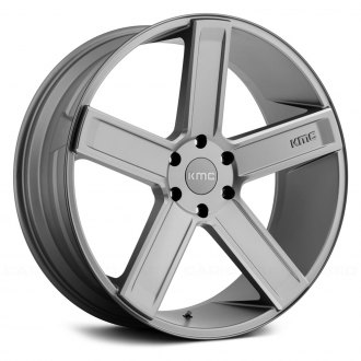 KMC® - KM702 DEUCE Matte Gray with Milled Accents