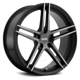 KMC® - KM703 MONOPHONIC Satin Black with Machined Face and Satin Gray Tinted Clear Coat