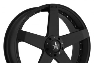 "KMC® - ROCKSTAR CAR Matte Black (17"" x 7.5"", +42 Offset, 5x98-127 Bolt Patterns, 72.6mm Hub)"