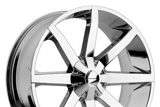 "KMC® - SLIDE Chrome (26"" x 10"", +28 Offset, 6x139.7 Bolt Pattern, 100.5mm Hub)"
