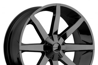 "KMC® - SLIDE Gloss Black (22"" x 9.5"", +15 Offset, 6x139.7 Bolt Pattern, 106.25mm Hub)"