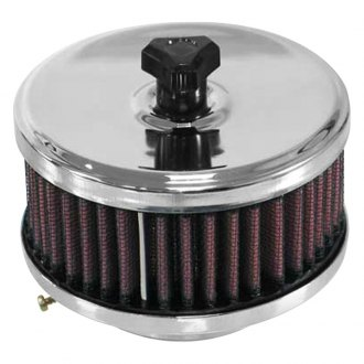 K&N® - Custom Round Red Air Cleaner Assembly
