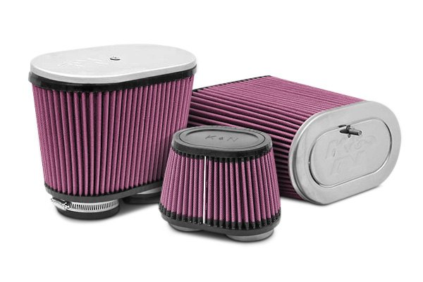 K&N® - Universal Dual Flange Oval Tapered Air Filters