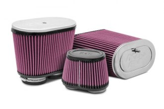 K&N® - Dual Flange Oval Tapered Universal Air Filters