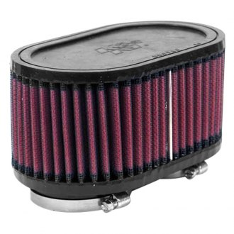 K&N® - Dual Flange Oval Straight Red Air Filter